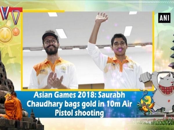 Asian Games 2018: Saurabh Chaudhary bags gold in 10m Air Pistol shooting