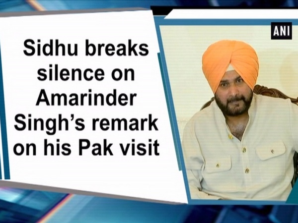 Sidhu breaks silence on Amarinder Singh's remark on his Pak visit