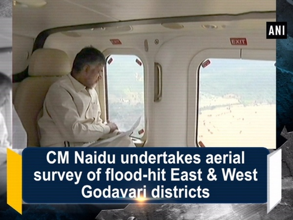CM Naidu undertakes aerial survey of flood-hit East & West Godavari districts