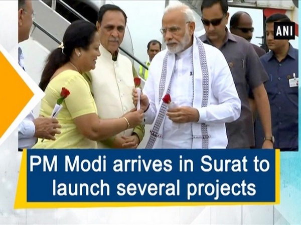 PM Modi arrives in Surat to launch several projects