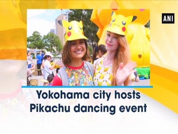 Yokohama city hosts Pikachu dancing event