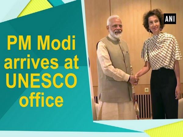 PM Modi arrives at UNESCO office