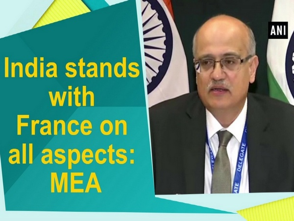 India stands with France on all aspects: MEA