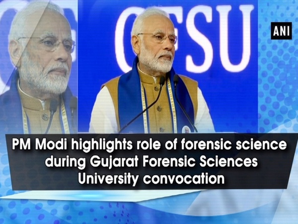 PM Modi highlights role of forensic science during Gujarat Forensic Sciences University convocation