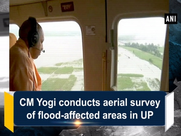 CM Yogi conducts aerial survey of flood-affected areas in Uttar Pradesh