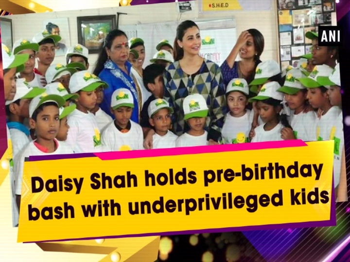 Daisy Shah holds pre-birthday bash with underprivileged kids