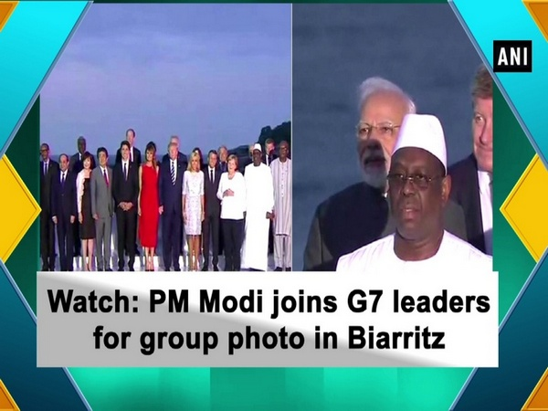 Watch: PM Modi joins G7 leaders for group photo in Biarritz
