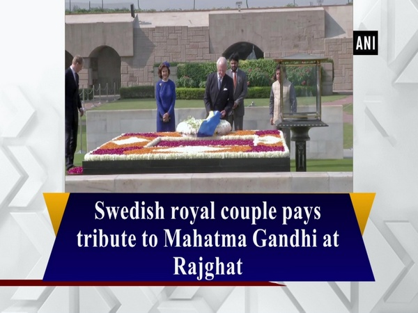 Swedish royal couple pays tribute to Mahatma Gandhi at Rajghat