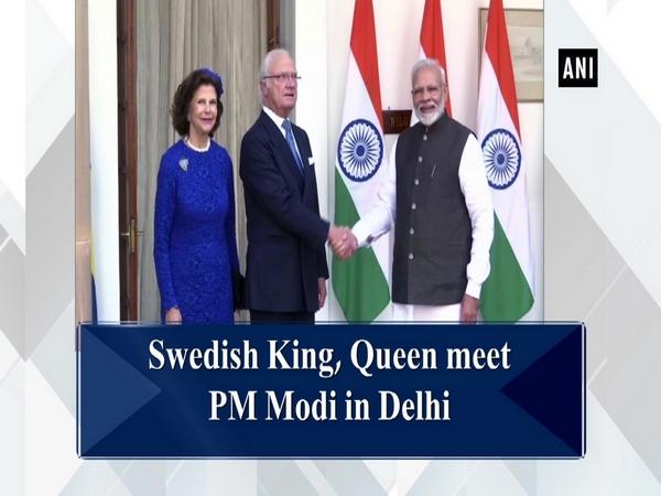 Swedish King, Queen meet PM Modi in Delhi