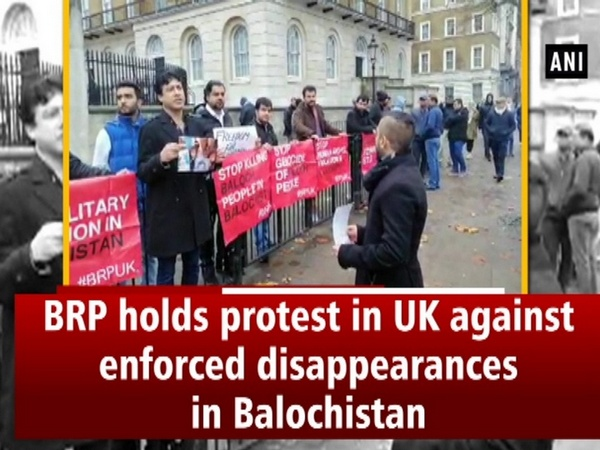 BRP holds protest in UK against enforced disappearances in Balochistan