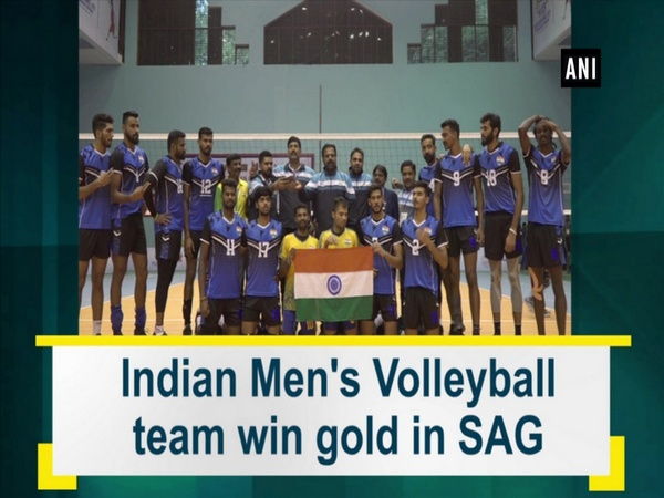 Indian Men's Volleyball team win gold in SAG