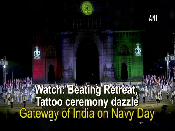 Watch: Beating Retreat, Tattoo ceremony dazzle Gateway of India on Navy Day