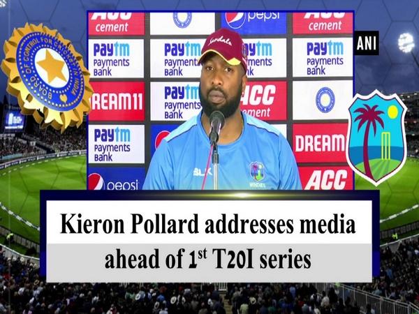 Kieron Pollard addresses media ahead of 1st T20I series