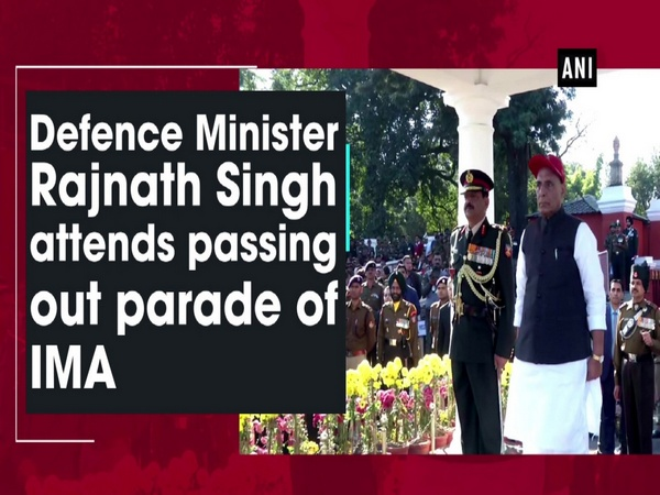 Defence Minister Rajnath Singh attends passing out parade of IMA