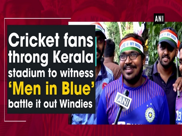 Cricket fans throng Kerala stadium to witness 'Men in Blue' battle it out Windies