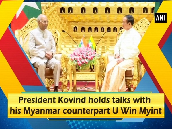 President Kovind holds talks with his Myanmar counterpart U Win Myint