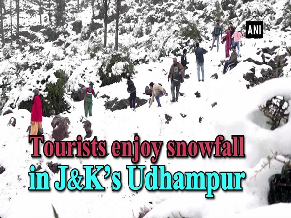Tourists enjoy snowfall in J&K's Udhampur