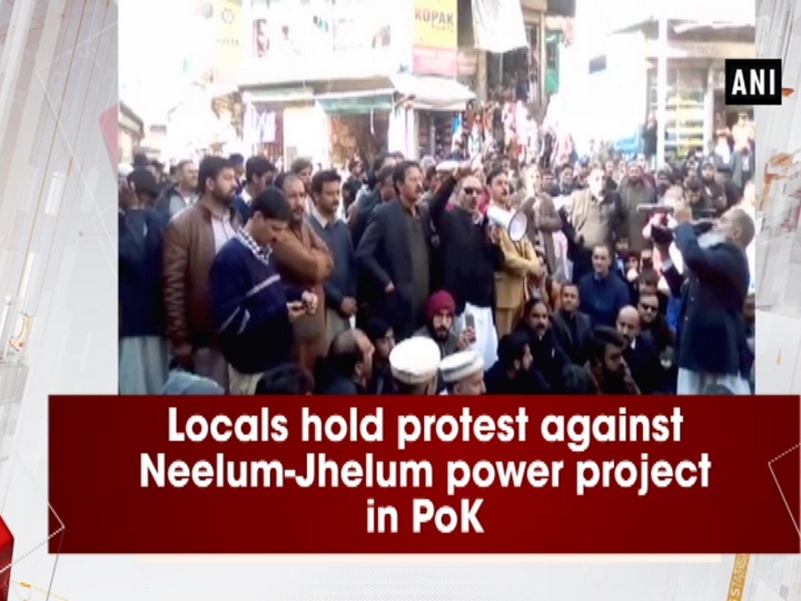 Locals hold protest against Neelum-Jhelum power project in PoK