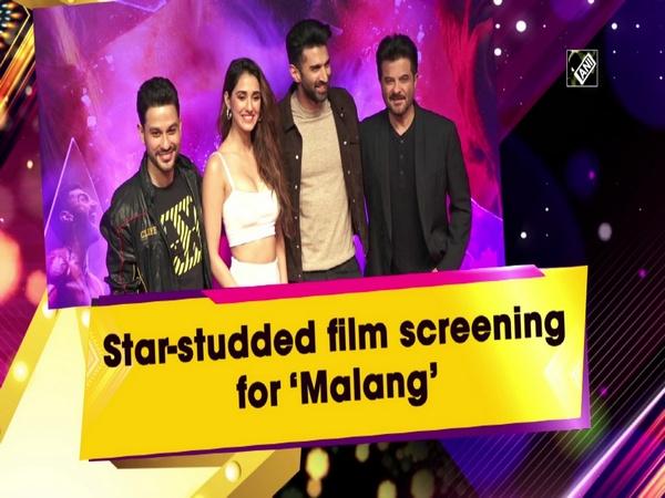 Star-studded film screening for 'Malang'