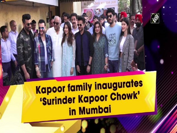 Kapoor family inaugurates 'Surinder Kapoor Chowk' in Mumbai