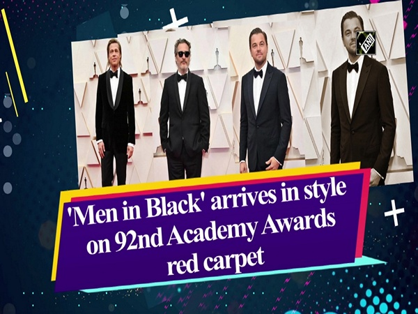 'Men in Black' arrives in style on 92nd Academy Awards red carpet