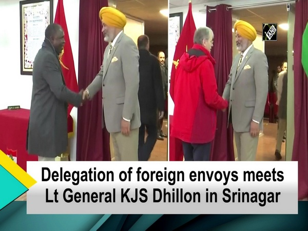 Delegation of foreign envoys meets Lt General KJS Dhillon in Srinagar