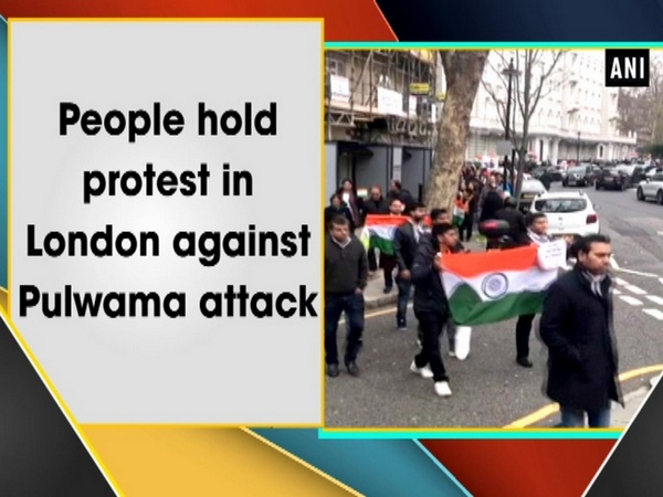 People hold protest in London against Pulwama attack