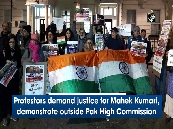 Protestors demand justice for Mahek Kumari, demonstrate outside Pak High Commission