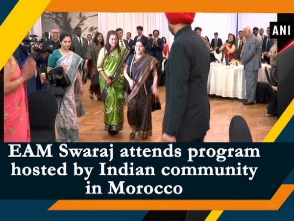 EAM Swaraj attends program hosted by Indian community in Morocco