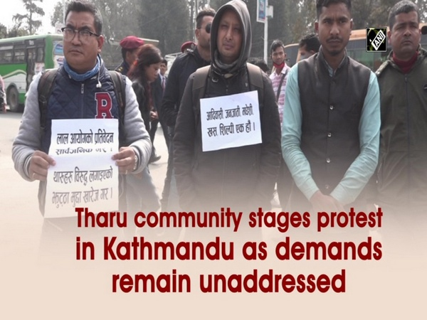 Tharu community stages protest in Kathmandu as demands remain unaddressed