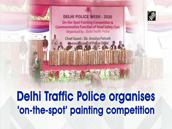Delhi Traffic Police organises 'on-the-spot' painting competition
