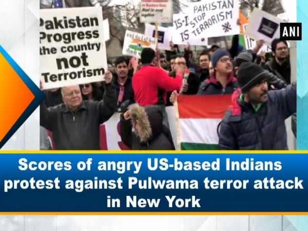 Scores of angry US-based Indians protest against Pulwama terror attack in New York