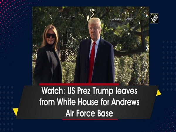 Watch: US Prez Trump leaves from White House for Andrews Air Force Base