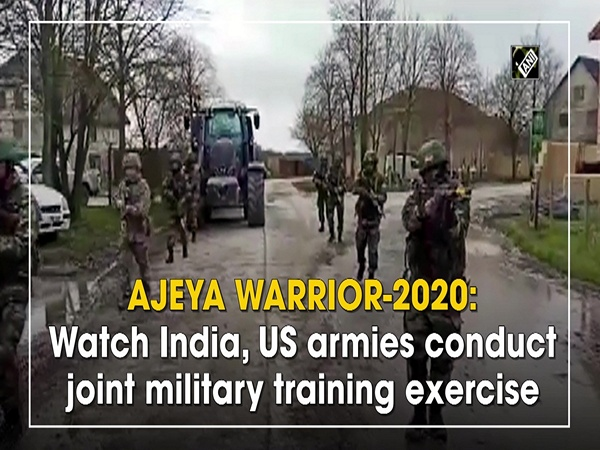 'AJEYA WARRIOR-2020': Watch India, US armies conduct joint military training exercise