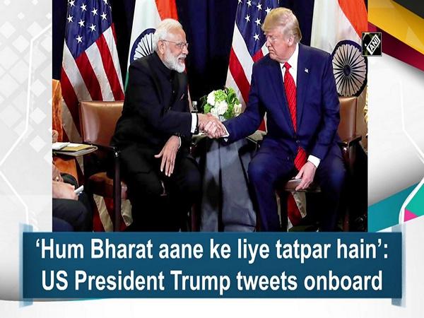 'Hum Bharat aane ke liye tatpar hain': US President Trump tweets onboard