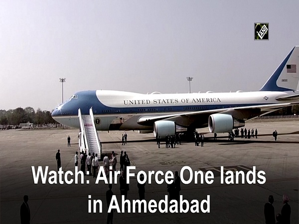 Watch: Air Force One lands in Ahmedabad