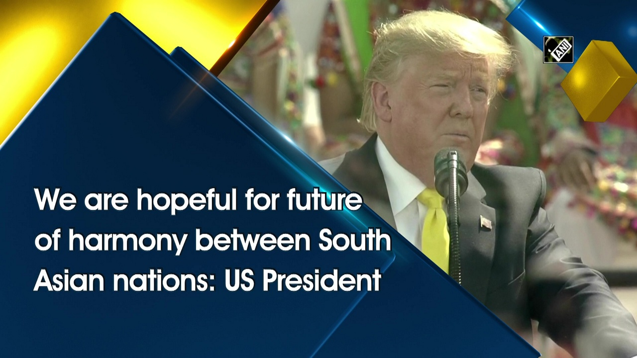 We are hopeful for future of harmony between South Asian nations: US President