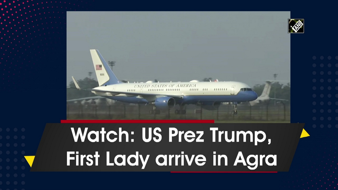 Watch: US Prez Trump, First Lady arrive in Agra