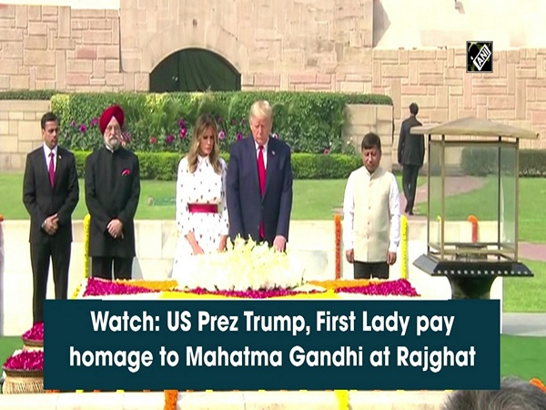 Watch: US Prez Trump, First Lady pay homage to Mahatma Gandhi at Rajghat