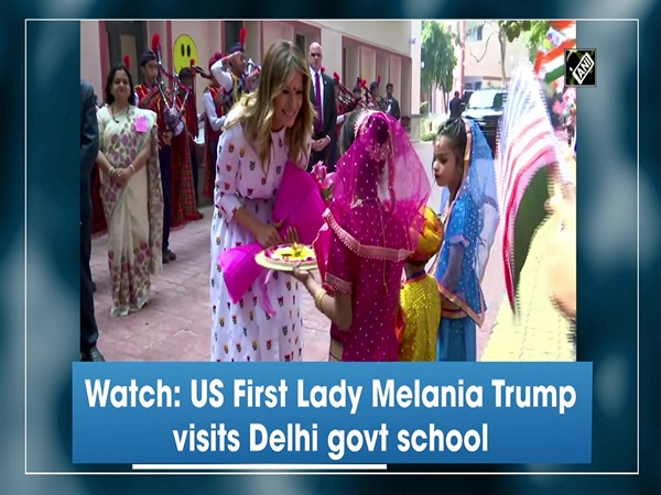 Watch: US First Lady Melania Trump visits Delhi govt school