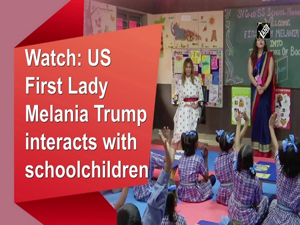 Watch: US First Lady Melania Trump interacts with schoolchildren