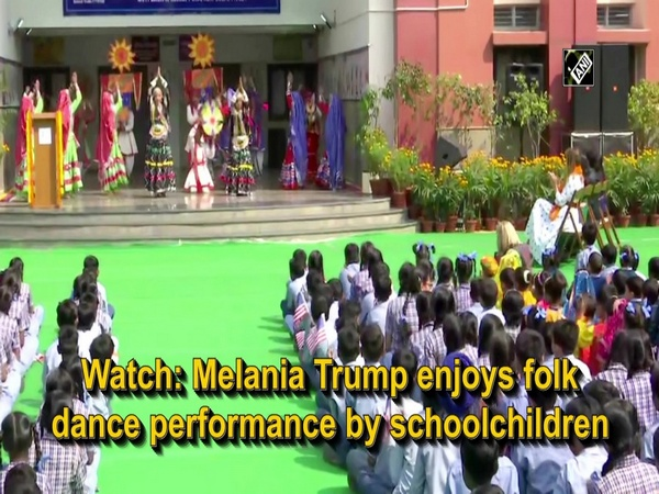 Watch: Melania Trump enjoys folk dance performance by schoolchildren