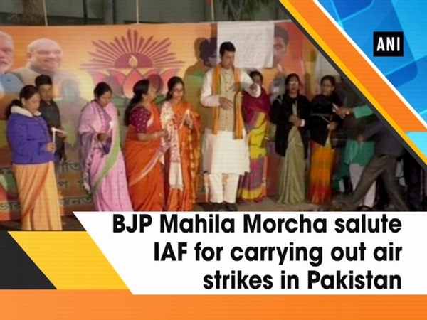 BJP Mahila Morcha salute IAF for carrying out air strikes in Pakistan