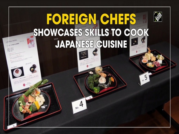 Foreign chefs showcases skills to cook Japanese cuisine