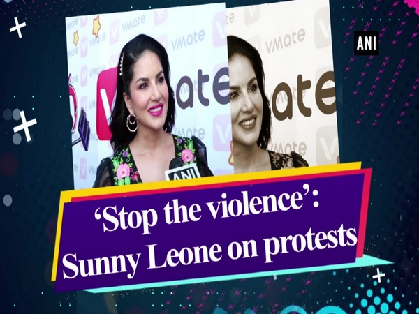 'Stop the violence': Sunny Leone on protests