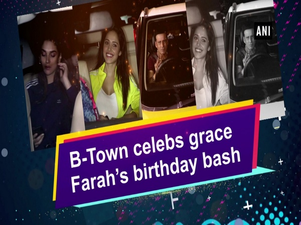 B-Town celebs grace Farah's birthday bash