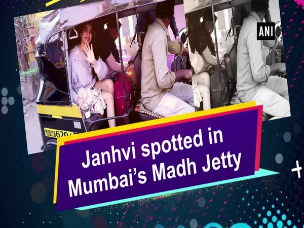 Janhvi spotted in Mumbai's Madh Jetty