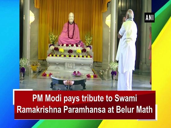 PM Modi pays tribute to Swami Ramakrishna Paramhansa at Belur Math