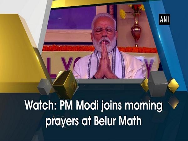 Watch: PM Modi joins morning prayers at Belur Math