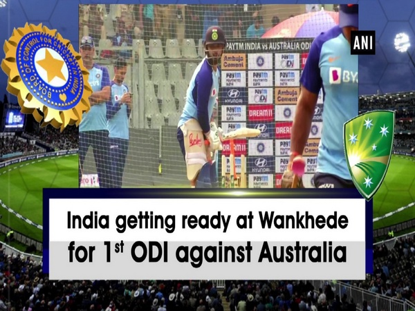 India getting ready at Wankhede for 1st ODI against Australia